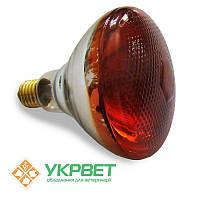 Инфракрасная лампа 175 Вт для обогрева животных, толстое стекло с напылением, Bongbada