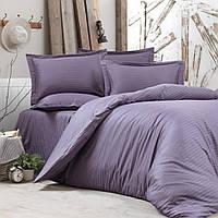 Сатин жаккардовый рисунок страйп-сатин, плотность 135 г/м, цвет фиолетовый, пр-во Турция