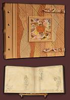 Эксклюзивный семейный фотоальбом в стиле 19 века 34х30 модель №5