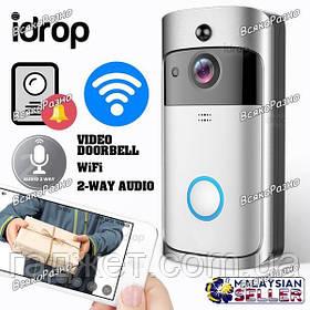 Wi-Fi видео домофон звонок дверной Doorbel. Бecпpoвoднoй видeoдoмoфoн Dооrbеll V5 c WІFІ и дaтчиĸoм движения.
