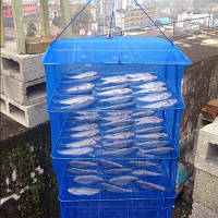 """Сушилка для рыбы Синяя, грибов, сухофруктов, защитит от насекомых, на 5 полочек 40*40* 100""""ХОРОШЕГО КАЧЕСТВА"""""""