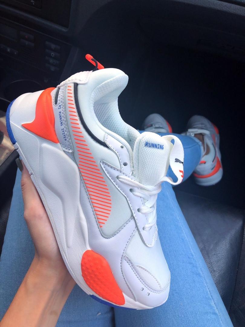"Женские кроссовки Puma RS-X ""White&Neon/Orange"" ( в стиле Пума )"