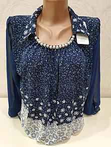 Лаконичная и стильная батальная блуза