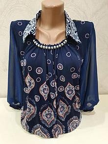 Блуза женская с принтом до 64 размера