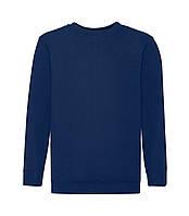 Детский свитер однотонный премиум темно-синий 031-32
