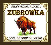 """""""Zubrowka"""" - наклейка сувенирная на бутылку"""