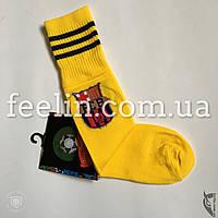 Гетры футбольные детские ФК Барселона р-р 33-38 желтые, фото 1