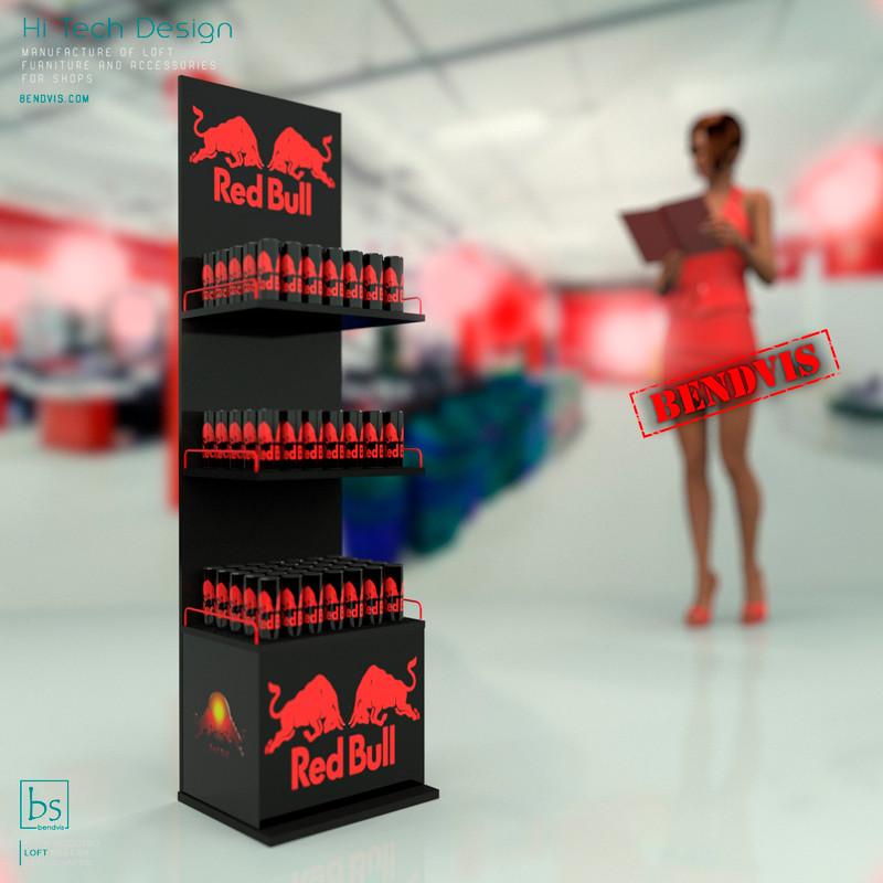 Напольные рекламные стойки Red Bull