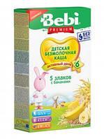 Безмолочная каша Bebi Premium (Беби Премиум) 5 злаков с бананом, 200 г, 1105018