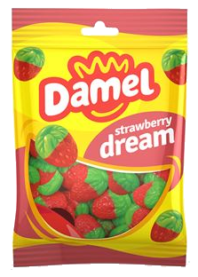 Жуйки Damel 100г Strawberries полунички, 18шт/ящ 63146