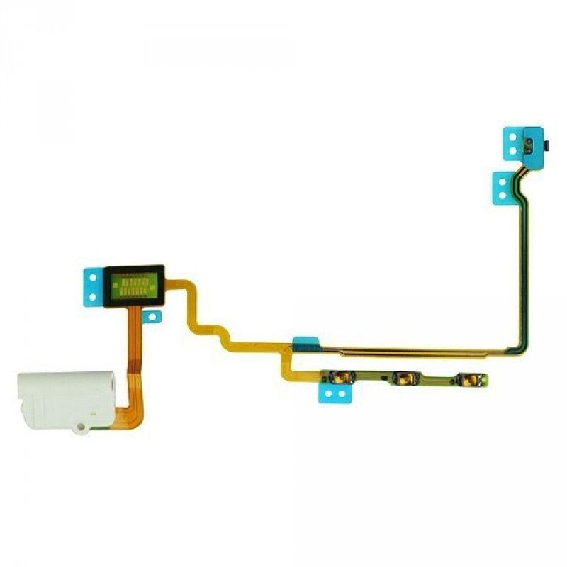 Шлейф для Apple iPod Nano 7Gen с кнопкой включения, кнопками регулировки громкости, разъемом наушников Original White