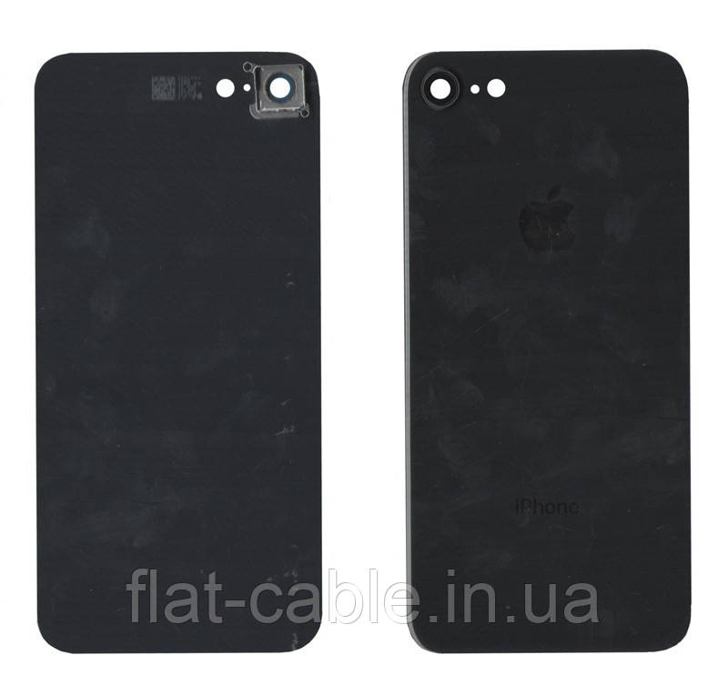 Крышка корпуса для iPhone 8 полная сборка Черная (стекло) оригинал PRC