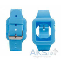Сменный ремешок для умных часов Apple Watch Silicon 42mm Blue iBest