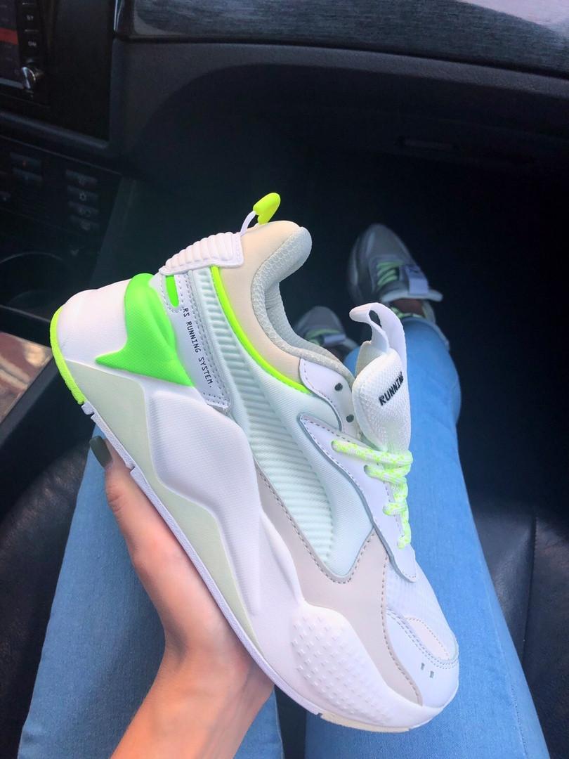 """Женские кроссовки Puma RS-X """"White&Neon/Green"""""""