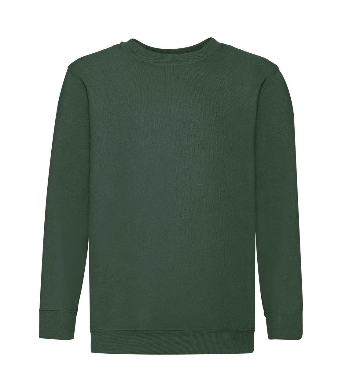 Детский свитшот премиум однотонный темно-зеленый 031-38