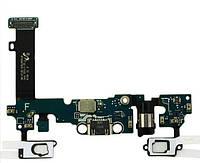 Шлейф Samsung A710F Galaxy A7 (2016) нижняя плата с разъемом зарядки, наушников и микрофоном Original