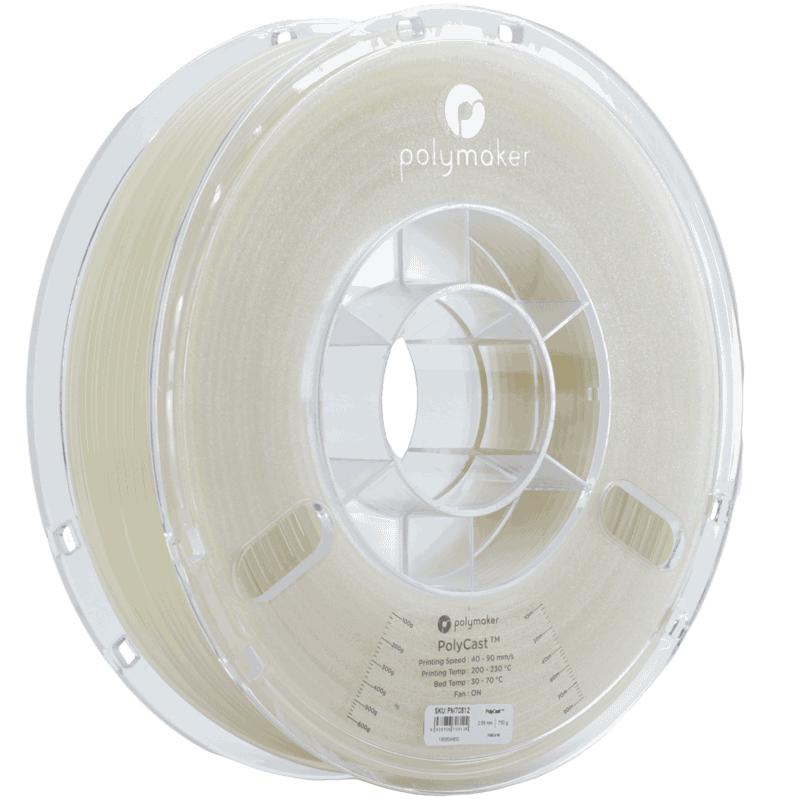 Випалювальний пластик в котушці PolyCast Polymaker,1,75 мм, 0.75 кг