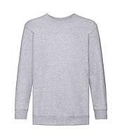 Детский свитер премиум однотонный светло-серый 031-94