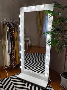 Напольное Зеркало с Лампами во Весь Рост на Колесах 170х80 см