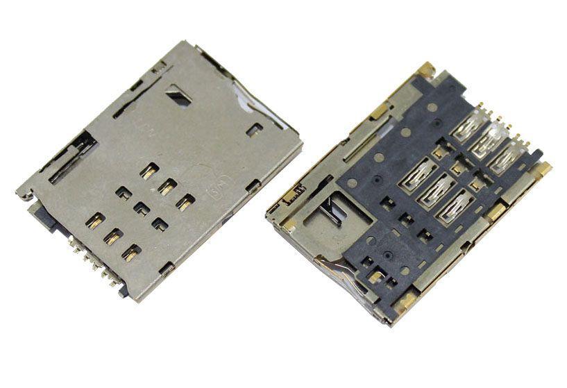 (Коннектор) Разъем SIM-карты Lenovo A3300  A7-30HC