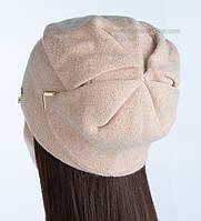 Женская шапка с люрексом Элизабет цвет жемчуг