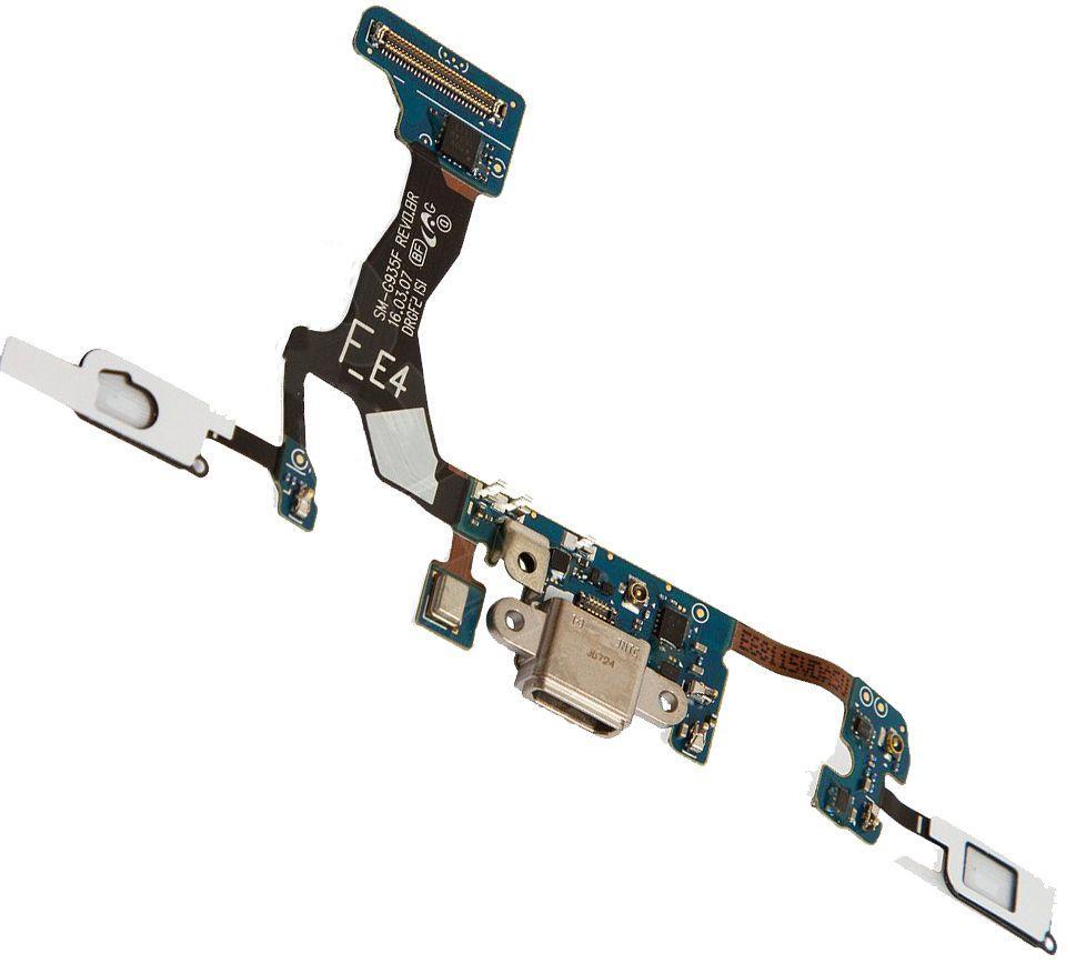 Шлейф Samsung G935F Galaxy S7 EDGE нижняя плата с разъемом зарядки и микрофоном Original