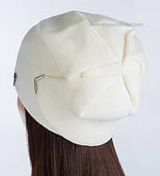 Вязаная шапка с люрексом Элизабет цвет белый