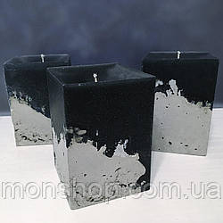 Свічка - бетон 6х7 см (аромат і колір на вибір)