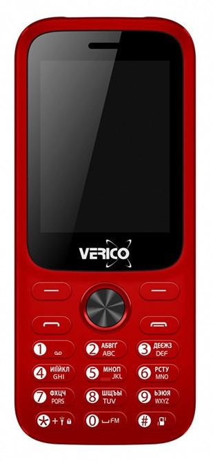 Мобільний телефон Verico Carbon M242 Red Гарантія 12 місяців