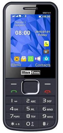 Мобільний телефон Maxcom MM141 Gray Гарантія 12 місяців, фото 2