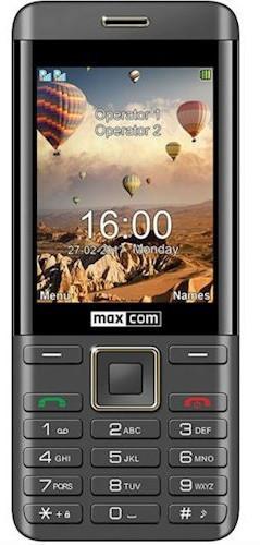 Мобильный телефон Maxcom MM236 Black-Gold Гарантия 12 месяцев