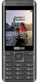 Телефон Maxcom MM236 Black-Silver Гарантия 12 месяцев
