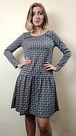 Трикотажное платье-туника с рюшей П247