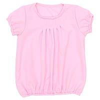 Блузка короткий рукав рожева 122