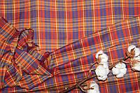 Ткань костюмная плательная клетка, натуральные волокна, слабый стрейч (5%эластана) №317