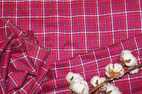 Ткань костюмная плательная клетка, натуральные волокна, слабый стрейч (5%эластана) №316, фото 1