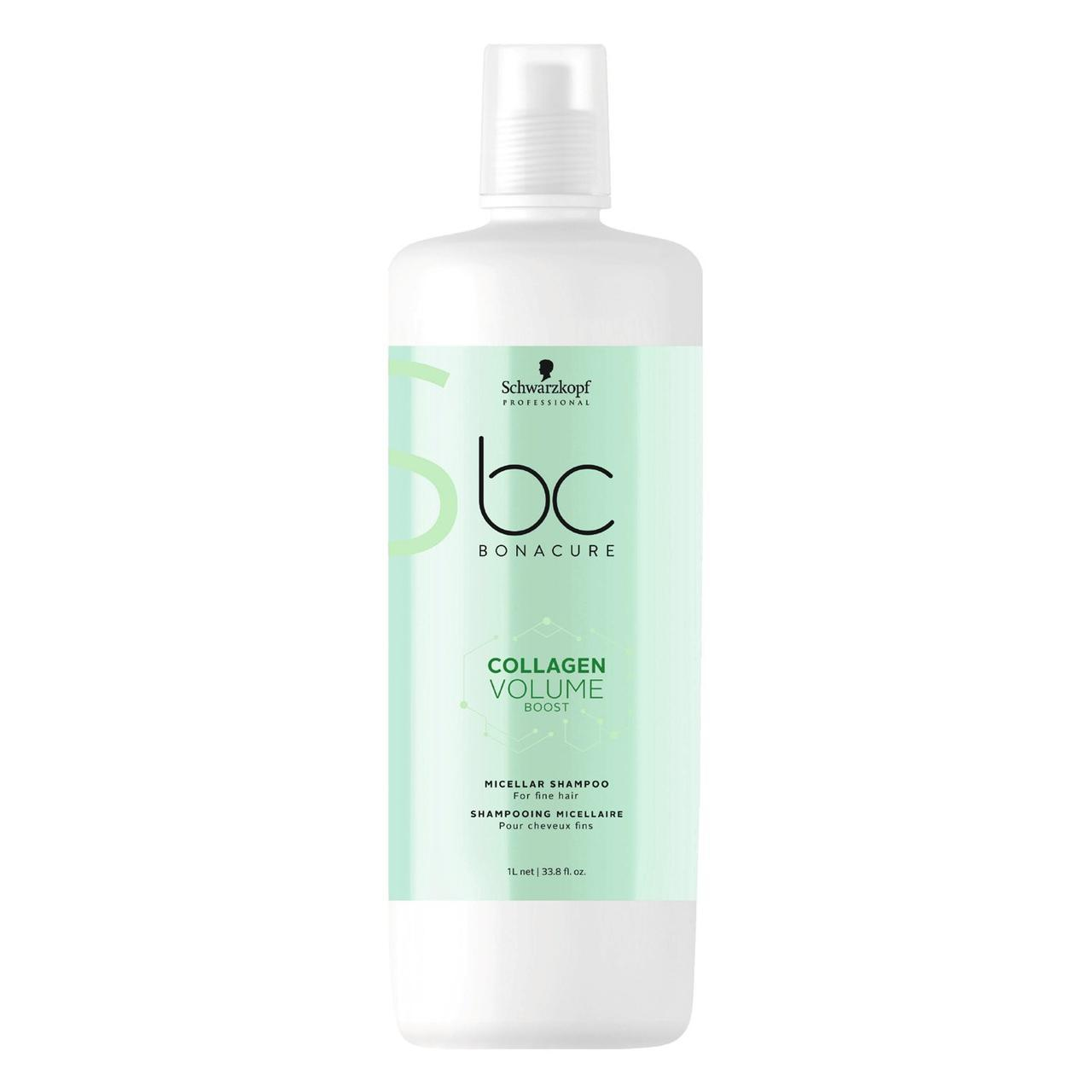 Мицеллярный шампунь для объёма SCHWARZKOPF BC Collagen Volume Boost Micellar Shampoo 1000 мл
