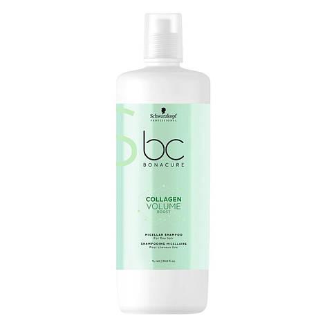 Мицеллярный шампунь для объёма SCHWARZKOPF BC Collagen Volume Boost Micellar Shampoo 1000 мл, фото 2