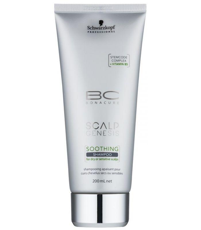 Успокаивающий шампунь для сухой и чувствительной кожи головы SCHWARZKOPF Scalp Genesis Soothing Shampoo 200 мл
