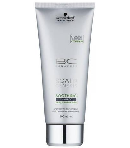 Успокаивающий шампунь для сухой и чувствительной кожи головы SCHWARZKOPF Scalp Genesis Soothing Shampoo 200 мл, фото 2