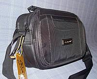 Мужская сумка Jia Jun 8804 серая из полиэстера ремень через плечо два отдела противоударная 23 х 31 х 13см, фото 1