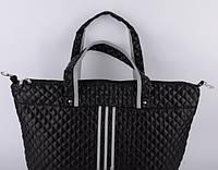 Сумка женская стеганая Adidas черная 52х32х16.