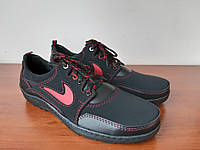 Кросівки чоловічі чорні зручні прошиті ( код 8141 ), фото 1