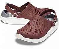 Мужские кроксы коричневые, сабо Crocs LiteRide оригинал