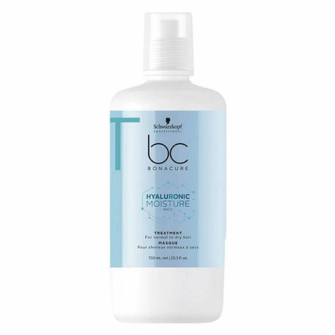 Увлажняющая маска SCHWARZKOPF BC Hyaluronic Moisture Kick Treatment 750 мл, фото 2