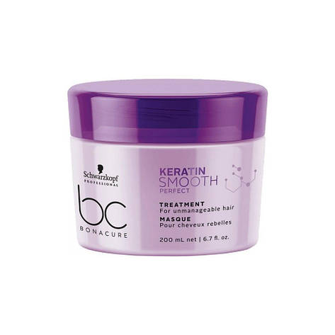 Маска для гладкости волос SCHWARZKOPF BC Keratin Smooth Perfect Treatment 200 мл, фото 2