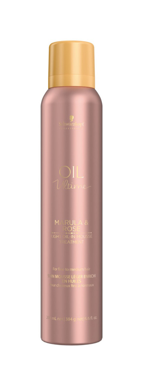 Маска для тонких и нормальных волос SCHWARZKOPF Oil Ultime Marula&Rose Light Oil-in Mousse Treatment 200 мл