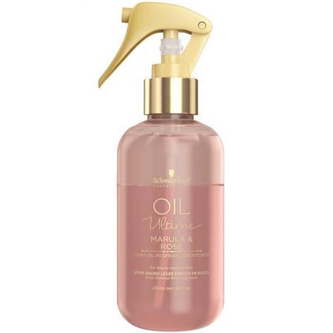Спрей-кондиционер для тонких и нормальных волос SCHWARZKOPF Oil Ultime Marula&Rose Light Oil-in Spray 200 мл, фото 2