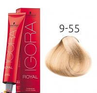 Краска для волос Schwarzkopf Professional Igora Royal 60 мл 9-55 Блондин золотистый экстра