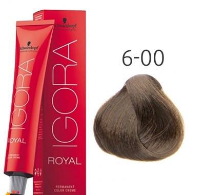 Краска для волос Schwarzkopf Professional Igora Royal 60 мл 6-00 Темный русый натуральный экстра